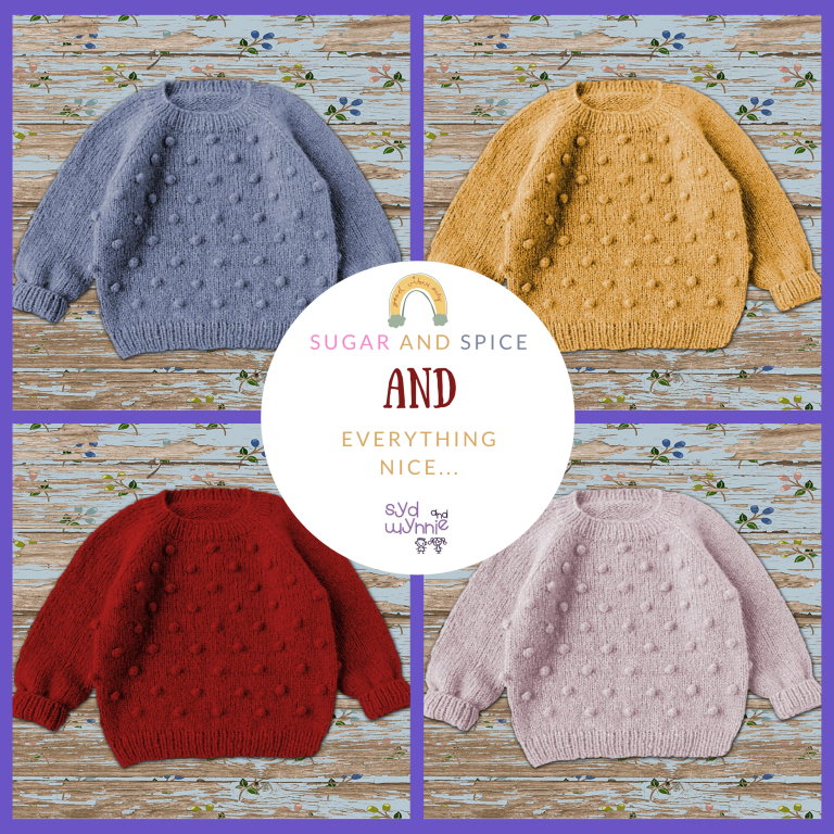 Hand knitted kids clothing